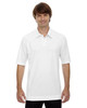 White - 88632 North End Men's Recycled Polyester Performance Pique Polo Shirt | Blankclothing.ca