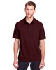 Burgundy - NE100 North End Men's Jaq Snap-Up Stretch Performance Polo | BlankClothing.ca
