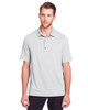 Platinum - NE100 North End Men's Jaq Snap-Up Stretch Performance Polo | BlankClothing.ca