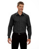 Black - 88674 North End Men's Boardwalk Wrinkle-Free Two-Ply 80's Cotton Striped Tape Shirt   BlankClothing.ca