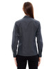 Carbon - Back, 78674 North End Ladies' Boardwalk Wrinkle-Free Two-Ply 80's Cotton Striped Tape Shirt | BlankClothing.ca