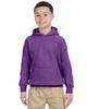 Purple - G185B Gildan Heavy Blend Youth 50/50 Hoodie | Blankclothing.ca