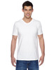White SFVR Fruit of the Loom 100% Softspun Cotton Jersey V-Neck T-Shirt | Blankclothing.ca