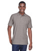 Grey Heather - M280 Harriton Men's Blend-Tek Polo Shirt | BlankClothing.ca