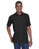 Black - M280 Harriton Men's Blend-Tek Polo Shirt | BlankClothing.ca
