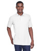 White - M280 Harriton Men's Blend-Tek Polo Shirt | BlankClothing.ca