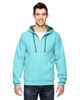 Scuba Blue - SF73R Fruit Of The Loom Softspun Full-Zip Hooded Sweatshirt | Blankclothing.ca