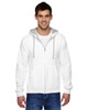 White - SF73R Fruit Of The Loom Softspun Full-Zip Hooded Sweatshirt | Blankclothing.ca