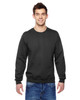 Black SF72R Fruit of the Loom Sofspun® Crewneck Sweatshirt  | Blankclothing.ca