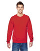 Fiery Red - SF72R Fruit of the Loom Sofspun® Crewneck Sweatshirt  | Blankclothing.ca