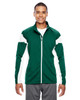 Forest/White - TT34 Team 365 Men's Performance Full-Zip Jacket | Blankclothing.ca