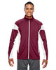 Maroon/White - TT34 Team 365 Men's Performance Full-Zip Jacket | Blankclothing.ca