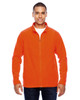 Orange - TT90 Team 365 Men's Campus Microfleece Jacket | BlankClothing.ca