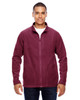 Maroon - TT90 Team 365 Men's Campus Microfleece Jacket | BlankClothing.ca