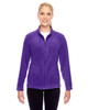 Purple - TT90W Team 365 Ladies' Campus Microfleece Jacket | BlankClothing.ca