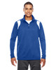 Royal/White - TT32 Team 365 Men's Elite Performance Quarter-Zip Sweater