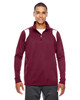 Maroon/White - TT32 Team 365 Men's Elite Performance Quarter-Zip Sweater