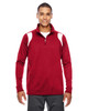 Red/White - TT32 Team 365 Men's Elite Performance Quarter-Zip Sweater