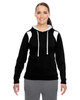 Black/White - TT30W Team 365 Ladies' Elite Performance Hoodie | Blankclothing.ca