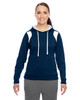 Dark Navy/White - TT30W Team 365 Ladies' Elite Performance Hoodie | Blankclothing.ca