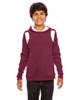 Maroon/White - TT30Y Team 365 Youth Elite Performance Hoodie | BlankClothing.ca