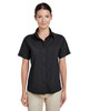 Black - M610SW Harriton Paradise Short-Sleeve Performance Shirt | BlankClothing.ca