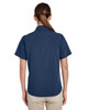 Navy, Back - M610SW Harriton Paradise Short-Sleeve Performance Shirt | BlankClothing.ca
