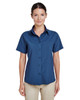 Pool Blue - M610SW Harriton Paradise Short-Sleeve Performance Shirt | BlankClothing.ca