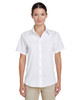 White - M610SW Harriton Paradise Short-Sleeve Performance Shirt | BlankClothing.ca