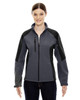 Fossil Grey - 78077 North End Ladies' Colour-Block Soft Shell Jacket | Blankclothing.ca