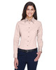 Blush - M500W Harriton Easy Blend Long-Sleeve Twill Shirt with Stain-Release | BlankClothing.ca