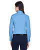 Light College Blue - Back, M500W Harriton Easy Blend Long-Sleeve Twill Shirt with Stain-Release | BlankClothing.ca