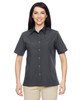 Dark Charcoal - M545W Harriton Ladies Advantage Snap Closure Short-Sleeve Shirt