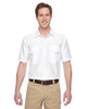 White - M580 Harriton Men's Key West Short-Sleeve Performance Staff Shirt