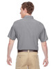 Dark Grey, Back - M610S Harriton Paradise Short-Sleeve Performance Shirt | BlankClothing.ca