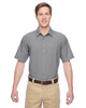Dark Grey - M610S Harriton Paradise Short-Sleeve Performance Shirt | BlankClothing.ca