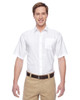 White - M610S Harriton Paradise Short-Sleeve Performance Shirt | BlankClothing.ca
