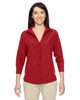 Parrot Red - M610W Harriton Ladies' Paradise Three-Quarter Sleeve Performance Shirt | BlankClothing.ca