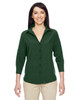 Palm Green - M610W Harriton Ladies' Paradise Three-Quarter Sleeve Performance Shirt | BlankClothing.ca