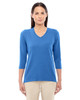French Blue - DP184W Devon & Jones Ladies' Perfect Fit Bracelet Length V-Neck Top
