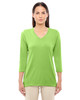Lime - DP184W Devon & Jones Ladies' Perfect Fit Bracelet Length V-Neck Top