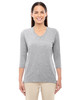 Grey Heather - DP184W Devon & Jones Ladies' Perfect Fit Bracelet Length V-Neck Top