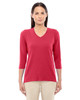 Red - DP184W Devon & Jones Ladies' Perfect Fit Bracelet Length V-Neck Top