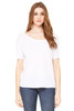 White - 8816 Bella+Canvas Slouchy T-Shirt | Blankclothing.ca