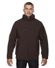 Dark Chocolate - 88159 North End Men's Insulated Soft Shell Jacket With Detachable Hood   Blankclothing.ca