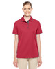 Classic Red/Carbon 78222 Ash City - Core 365 Ladies' Motive Performance Pique Polo Shirt with Tipped Collar | Blankclothing.ca