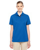 True Royal/Carbon 78222 Ash City - Core 365 Ladies' Motive Performance Pique Polo Shirt with Tipped Collar | Blankclothing.ca