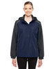 Classic Navy/Carbon - 78225 Ash City - Core 365 Ladies' Inspire Colorblock All-Season Jacket | Blankclothing.ca