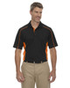 Black/Orange - 85113 Ash City - Extreme Eperformance Men's Plus Colourblock Polo Shirt