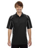 Black - 85107 Ash City - Extreme Eperformance Men's Velocity Polo Shirt with Piping
